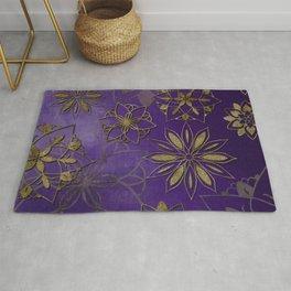 Violet gold mandala Rug