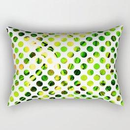 Fluid Dot (Green Version) Rectangular Pillow