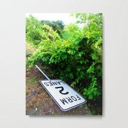 Form 2 Lanes Metal Print