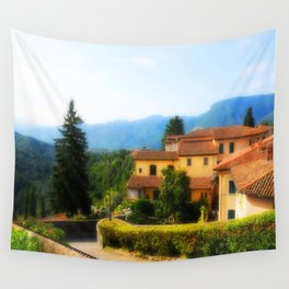 Sunny day in  Barga Wall Tapestry