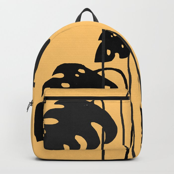 gold and black leaves Backpack