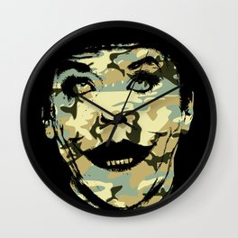 Clown prince of crime in disguise art print Wall Clock