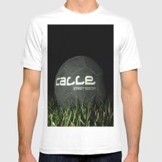 Calle-Swag District. MEDIUM White Mens Fitted Tee