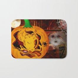 Sirens Pumpkin Carving Halloween Folk Art Bath Mat