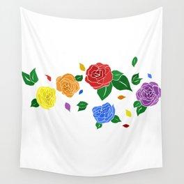 lgbt roses Wall Tapestry