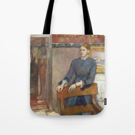 Helene Rouart in her Father's Study by Edgar Degas Tote Bag
