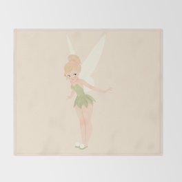 Tinker bell | illustration Throw Blanket