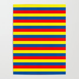 andorra Ecuador romania moldova chad colombia orkney flag stripes Poster