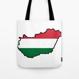 Hungary Map with Hungarian Flag Tote Bag