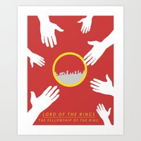 lord of the rings Art Prints featuring Lord of the Rings by KirstenJudkins