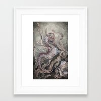 caitlin hackett Framed Art Prints featuring When the Seas Rise by Caitlin Hackett