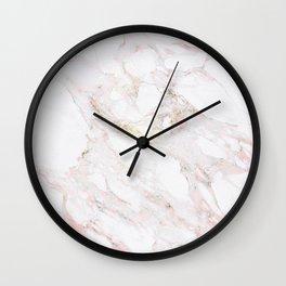 Pink Marble Wall Clock