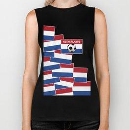Netherlands Flag Football Biker Tank