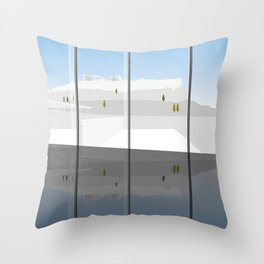 A Day at the Acropolis Museum of Athens Greece Throw Pillow