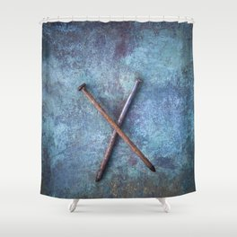 Two Nails Shower Curtain
