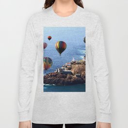 Flying Colorful Hot air Balloons over Newfoundland Long Sleeve T-shirt