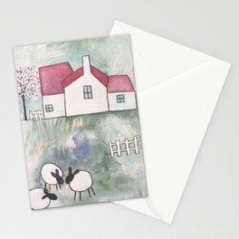Farmhouse - Three Sheep Stationery Cards