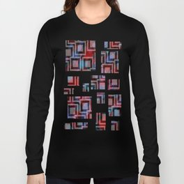 Black and White Squares Pattern 01 Long Sleeve T-shirt