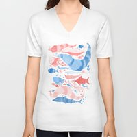 under the sea V-neck T-shirts featuring Under the sea by Matt Saunders