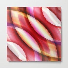 Pattern red Metal Print