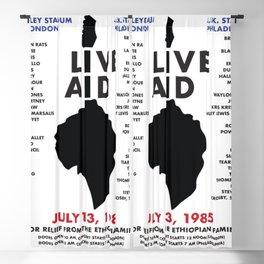 Live Aid 1985 Vintage JFK & Wembley Stadium Concert Festival Gig Advertising Music Poster Blackout Curtain