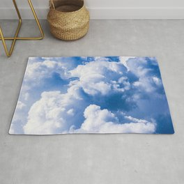 Stormy Clouds Pattern Rug