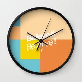 Believe & Be Alive! -V2MixedBlue- Wall Clock