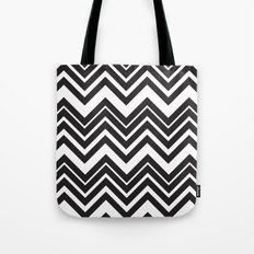 Black Chevron Tote Bag