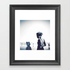 Teddy in love Framed Art Print