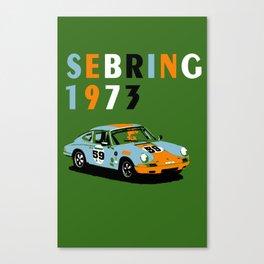 1973 Porsche Carrera RSR At Sebring 12 Hours Canvas Print