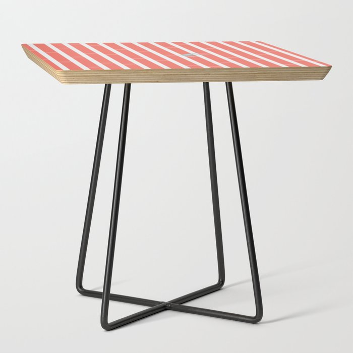 Bamboo_Pattern_~_coral_red_Side_Table_by_tiny_spiny_cactus__Black__Square