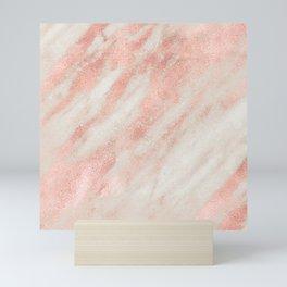 Desert Rose Gold Pink Marble Mini Art Print