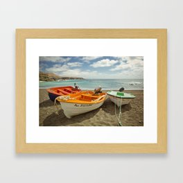 3 boats Framed Art Print