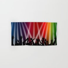 Dancing Crowd With Multi Colour and White Spotlights Hand & Bath Towel