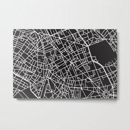 Paris Custom Map Print Metal Print
