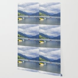 Blue mountain lake Wallpaper