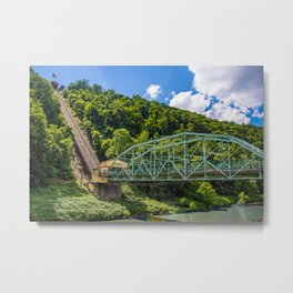 Johnstown, PA Inclined Plane Metal Print