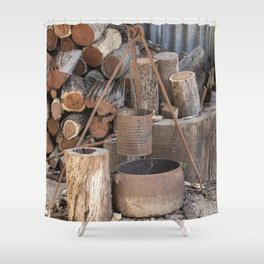 The Camp Fire Shower Curtain
