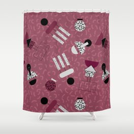 geometric IIII Shower Curtain
