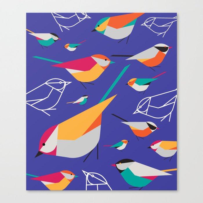 Birds Talk Canvas Print