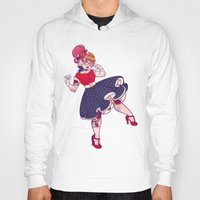 rockabilly Hoodies featuring Rockabilly Futakuchi Peggy by Gunkiss