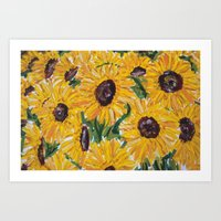 Encounter with Daisies Art Print
