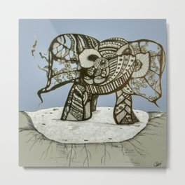 an elephant Metal Print