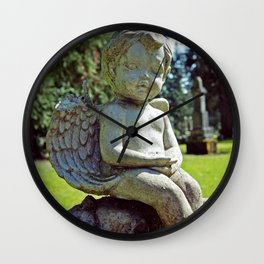 Little stone angel  Wall Clock