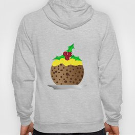 Christmas Pudding With Custard And Holly Sprig Hoody