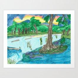 Cypress Creek Art Print