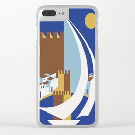 Come to the islands retro travel Clear iPhone Case