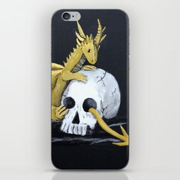 Gold Dragon & Skull iPhone Skin