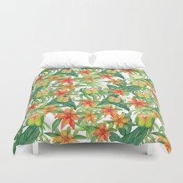 Jungle Tropical Watercolor Greenery Botanical Duvet Cover