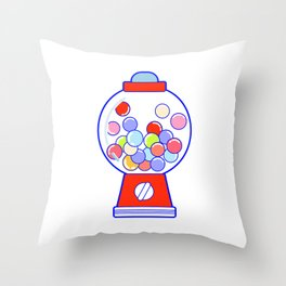 Gum Ball Machine Throw Pillow